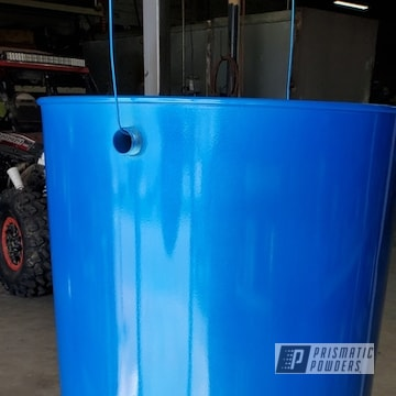 Powder Coated Custom Drum Smoker In Pms-4621 And Pps-2974