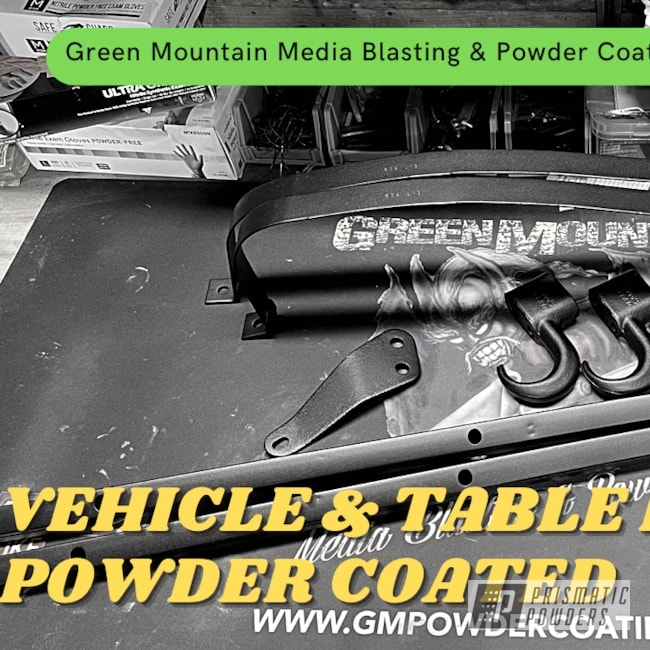 Powder Coating: Car Parts,Caveman Black PTS-1539,Vehicle parts