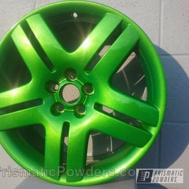 Powder Coating: Wheels,Clear Vision PPS-2974,VW wheels,Granny Smith Green PMB-2733