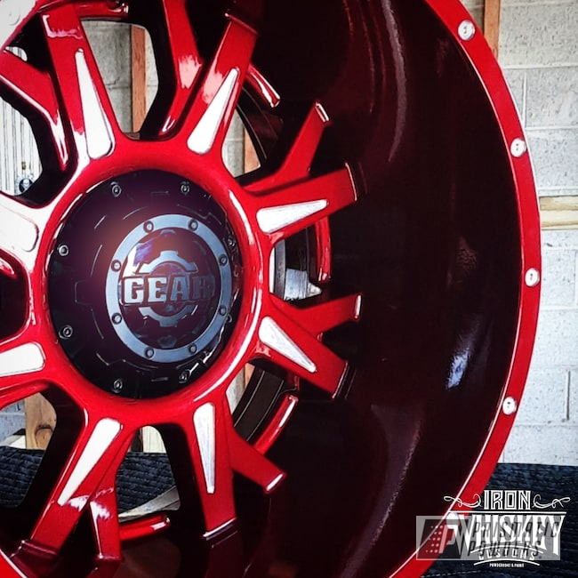 "Powder Coating: Wheels,Gear,Clear Vision PPS-2974,20"" Wheels,Rims,Off-Road,Illusion Cherry PMB-6905"