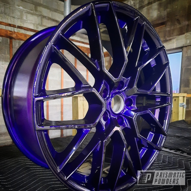 "Powder Coating: Wheels,Heavy Silver PMS-0517,Two Stage Application,20"" Wheels,Rims,Lollypop Purple PPS-1505"