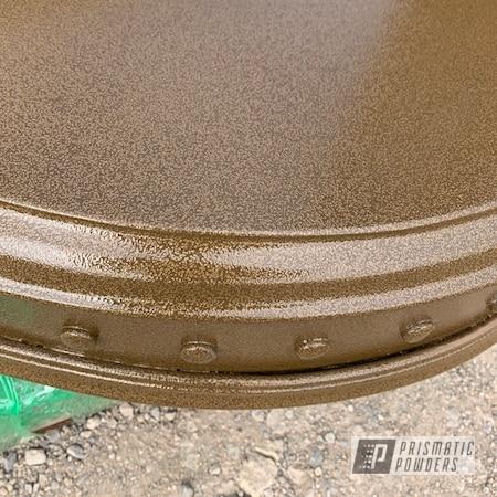 Powder Coating: Custom Stand,Brown/Tan PVS-4347,Custom Art,Stand