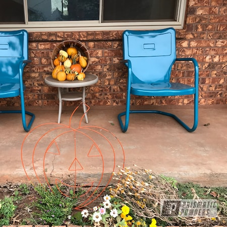 Powder Coating: Metal Chairs,Chairs,Indian Turquoise PSS-2791,Furniture