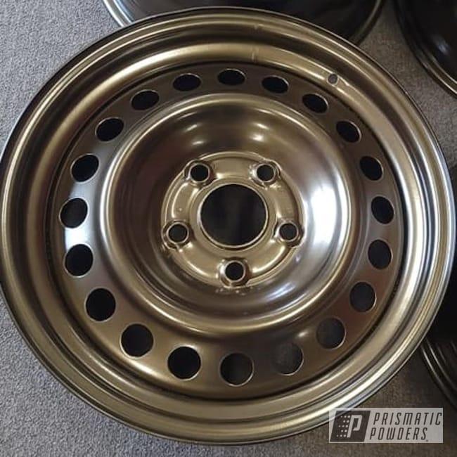 "Powder Coating: Wheels,15"" Steel Wheels,Rims,Bronze Chrome PMB-4124,Steel Wheels,Automotive Rims,Automotive Wheels,Steel Rims"
