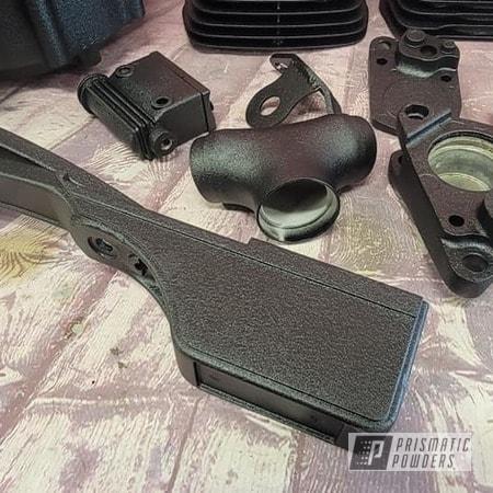 Powder Coating: Splatter Black PWS-4344,Harley Davidson Parts,Harley Davidson,Motorcycle Frame,Harley Engine Parts,Motorcycle Parts,Motorcycle Fender