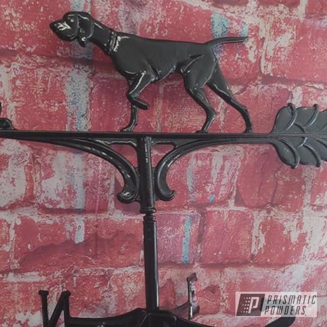 Powder Coating: decorative,Wrought Iron,Ink Black PSS-0106,Weather Vane,Outdoor Decor,Household
