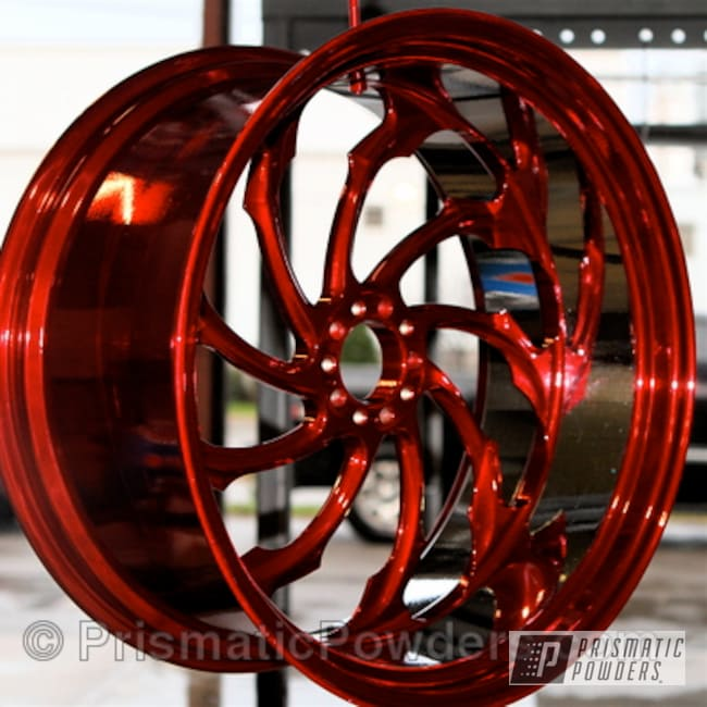 Powder Coating: Wheels,wheel,Clear Vision PPS-2974,red,powder coated,Deep Red PPS-4491