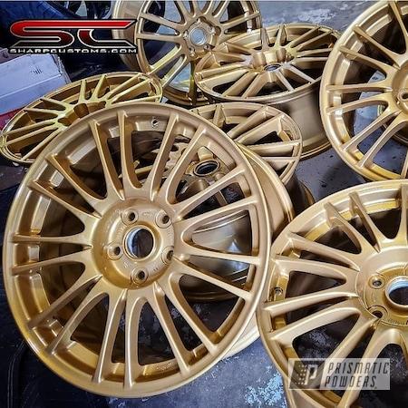 """Powder Coating: Wheels,Goldtastic PMB-6625,Rims,15"""" Aluminum Rims"""