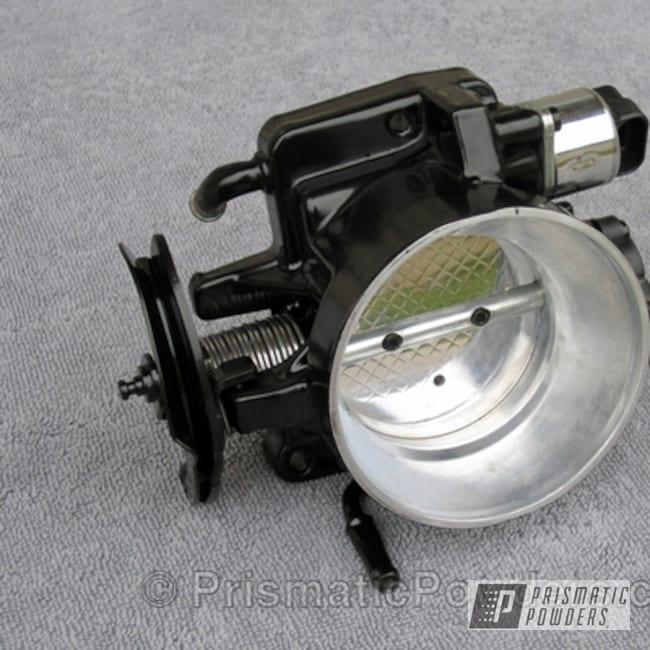 Powder Coating: Card Black PSS-1523,Automotive,Polished Bare Metal