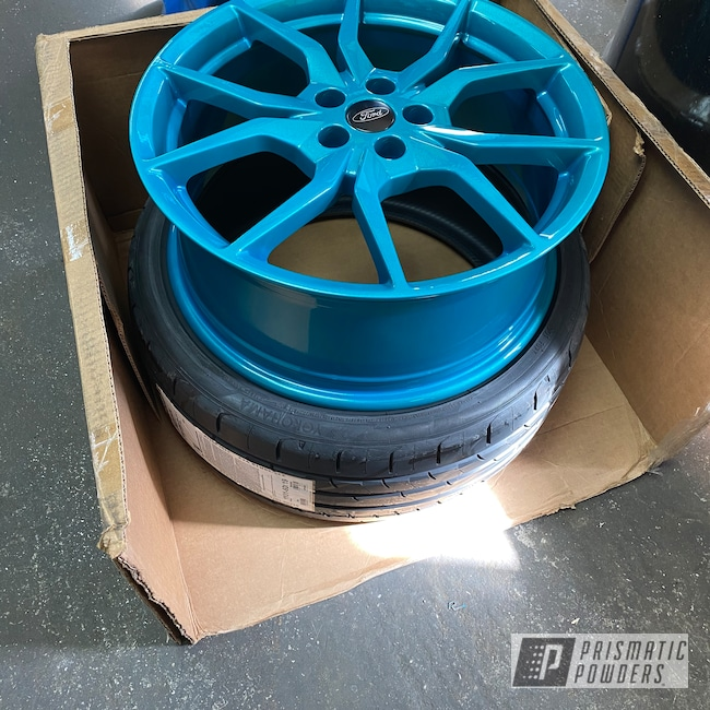 "Powder Coating: Wheels,Focus ST,Clear Vision PPS-2974,Ford Wheels,Rims,Illusion Tropical Fusion PMB-6919,Metallic Teal,19"" Aluminum Rims,Ford,Aluminum Wheels"