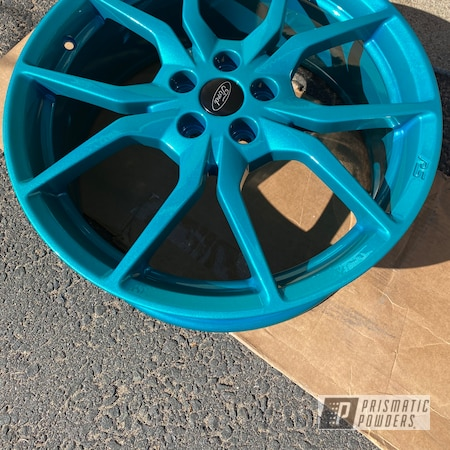 """Powder Coating: Wheels,Focus ST,Clear Vision PPS-2974,Ford Wheels,Rims,Illusion Tropical Fusion PMB-6919,Metallic Teal,19"""" Aluminum Rims,Ford,Aluminum Wheels"""