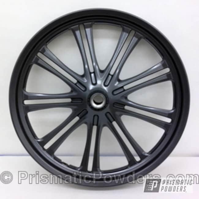 Powder Coating: Wheels,Dark Grey,powder coated,Cool Charcoal PMS-2555