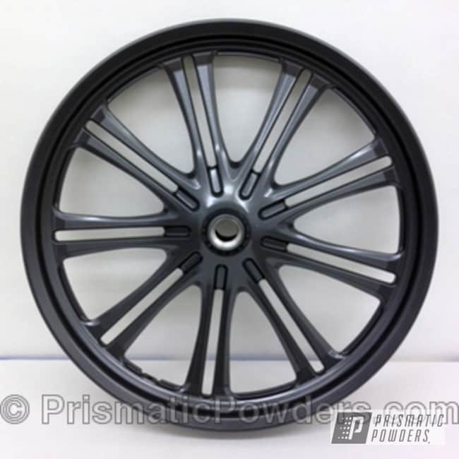 Powder Coating: Wheels,powder coated,dark grey,Cool Charcoal PMS-2555