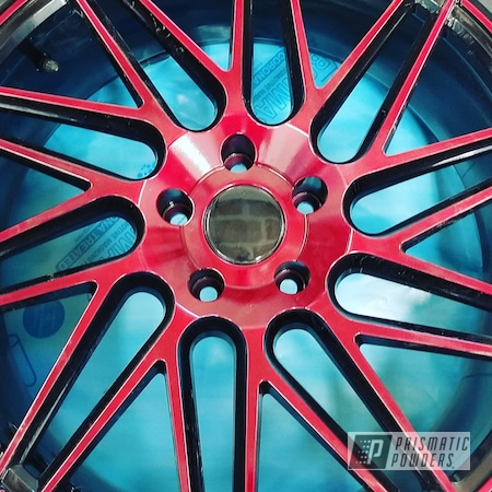 """Powder Coating: Wheels,Clear Vision PPS-2974,20"""" Wheels,Rims,Ink Black PSS-0106,Two Tone Wheels,Illusion Cherry PMB-6905,Two Tone"""