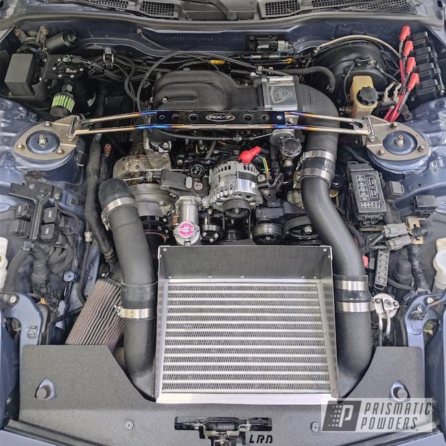 Powder Coating: Engine Bay,Splatter Black PWS-4344,Automotive,RX7,Mazda,Engine Parts,RX7 FD3S Rotary