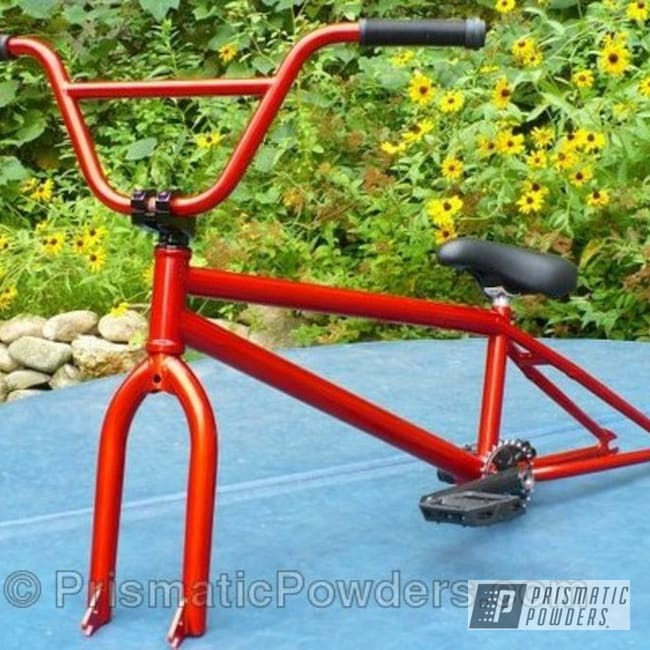 Powder Coating: Bicycles,Clear Vision PPS-2974,Copper,Copper Delight PMB-5014,powder coated,Bicycle Frame