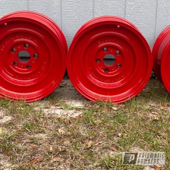 "Powder Coating: Wheels,Rims,Lifted,17"" Wheels,Jeep,Flag Red PSS-0105,Jeep Wheels"