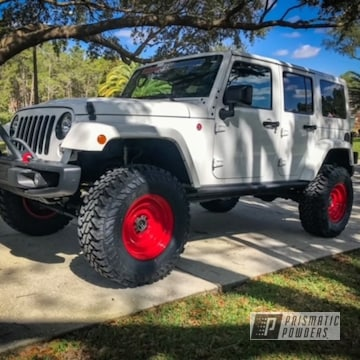 Powder Coated Jeep Wheels In Pss-0105