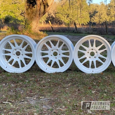 "Powder Coating: Wheels,19"" Wheels,Pearl White PMB-4364,Rims"