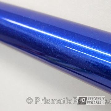 Peeka Blue Over Super Chrome With Chameleon Teal Topcoat