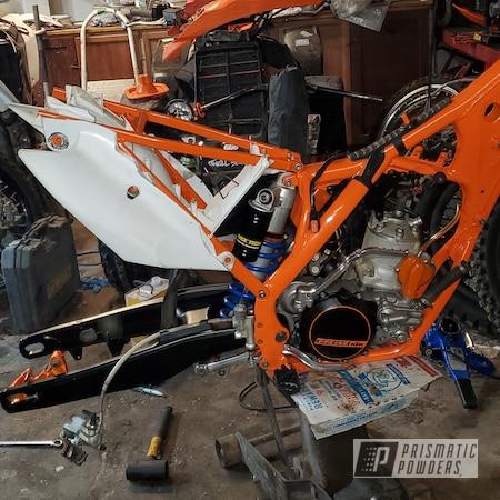 Powder Coating: Matte Black PSS-4455,Wetstone Black PWS-2232,250,KTM,Motorcycle Parts,Striker Gold PPB-6361,Super Grip Black PTB-6419,Just Orange PSS-4045,Restoration,Motorcycles,Dirt Bike