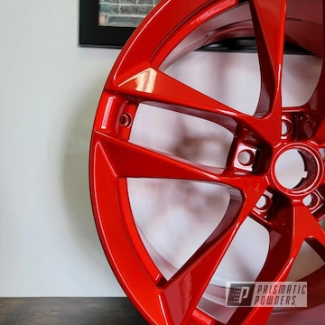 Powder Coated Wheels In Pms-4515 And Pps-2974