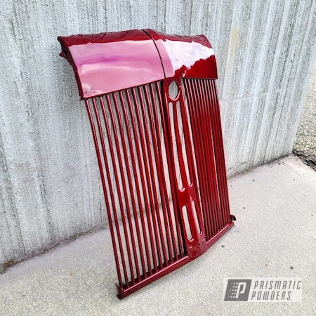 Powder Coating: Vintage,Farming,Farm,wall art,Clear Vision PPS-2974,Tractor Parts,Classic,Machine,parts,Illusion Cherry PMB-6905,Restoration,Tractor,grill,Garden Tractor,Random