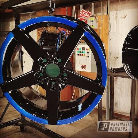 "Powder Coating: Wheels,Clear Vision PPS-2974,Rims,17"" Aluminum Rims,GLOSS BLACK USS-2603,Aluminum,Illusion Smurf PMB-6909"