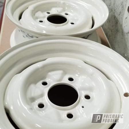 Powder Coating: Wheels,Ford Bronco,4x4,RAL 1013 Oyster White,Rims,Ford