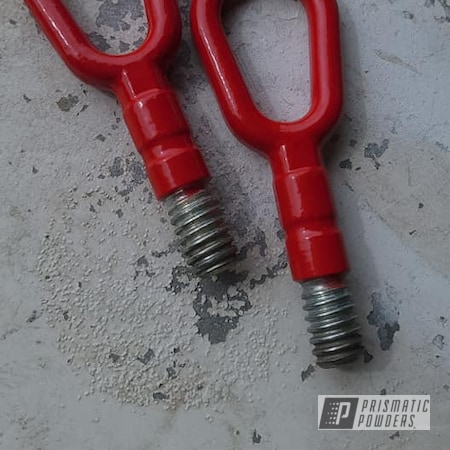 Powder Coating: Passion Red PSS-4783,Automotive,Tow Hooks,Towing,Off Roading,Automotive Parts