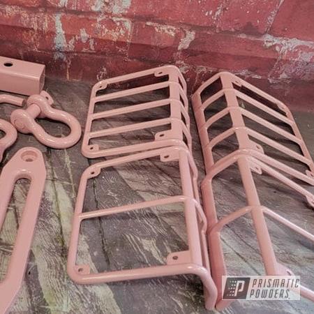 Powder Coating: Automotive,Jeep Parts,Jeep Wrangler,Automotive Parts,RAL 3015 Light Pink