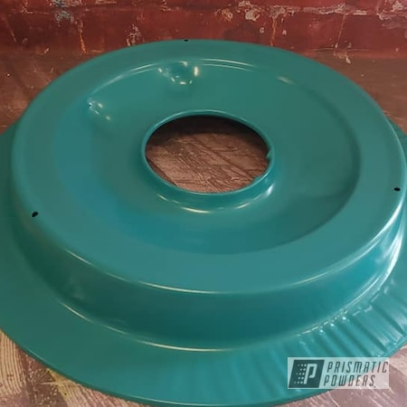 Powder Coating: Automotive,Air Cleaner,RAL 5018 Turquoise Blue,Automotive Parts,Pontiac