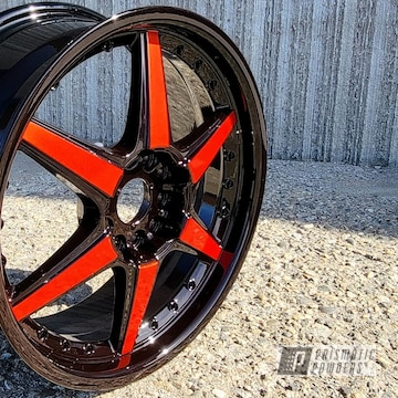 Powder Coated Two Tone Wheels In Uss-1522, Pms-4515 And Pps-2974
