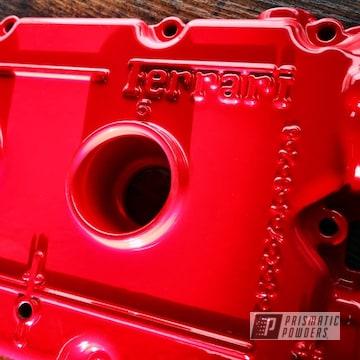 Powder Coated Ferrari Valve Cover In Psb-4787