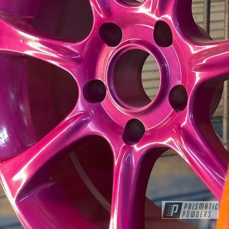 "Powder Coating: Wheels,Clear Vision PPS-2974,RACING RASPBERRY UPB-6610,Rims,15"" Aluminum Rims"