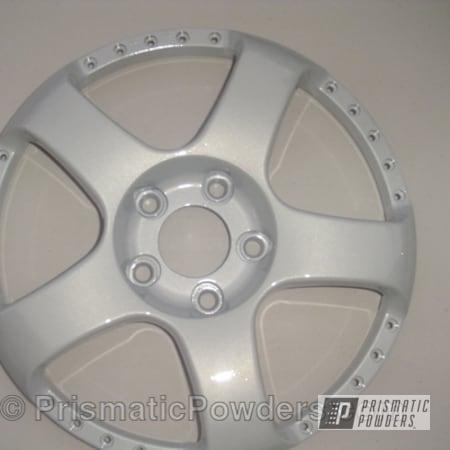 Powder Coating: Wheels,Silver,Prismatic,powder coated,White/Silver PMB-2798