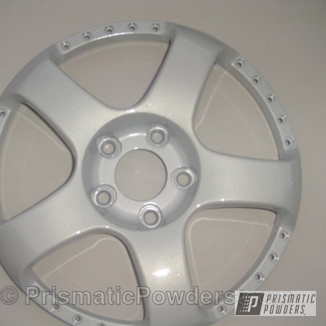 Powder Coating: Wheels,Silver,Prismatic,powder coated,White/Silver PMB-2798