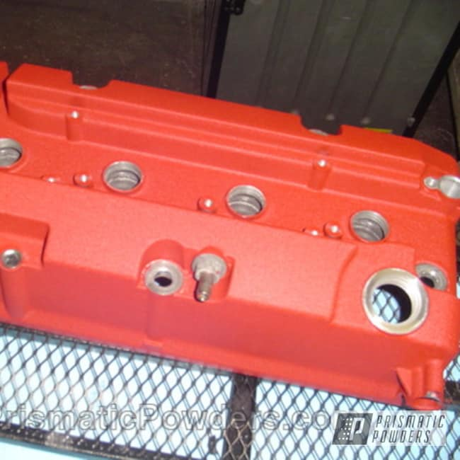 Powder Coating: Automotive,Prismatic,Red,powder coated,Desert Red Wrinkle PWS-2762,Textured,Valve Cover