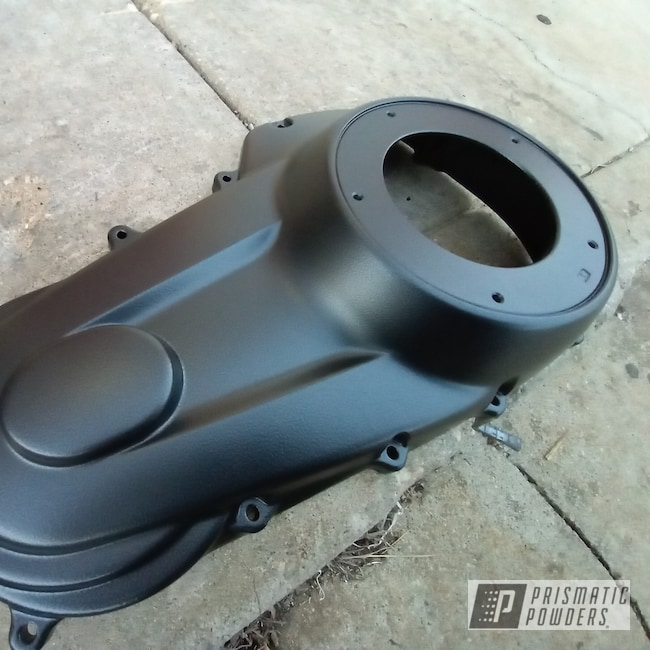 Powder Coating: Harley Davidson,Harley Davidson Primary Cover,Motorcycle Parts,Primary Cover,Autumn Black Leather ULB-10152