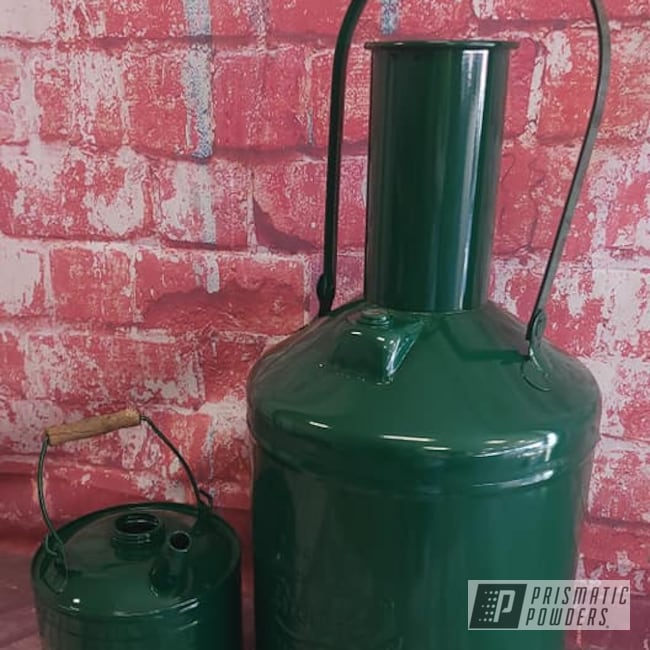 Powder Coating: RAL 6005 Moss Green,Vintage Cans,Vintage,Old Cans
