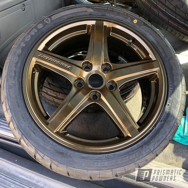 """Powder Coating: Wheels,Rims,17"""" Aluminum Rims,Mazda,Misty Gold PMB-4247,Protege,Mazdaspeed,Protege5"""