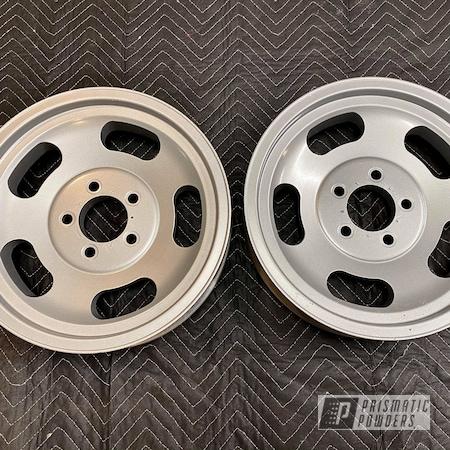 "Powder Coating: Wheels,Rims,15"" Aluminum Rims,Alloy Silver PMS-4983"