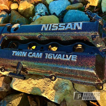 Powder Coated Nissan Valve Cover In Pmb-2689