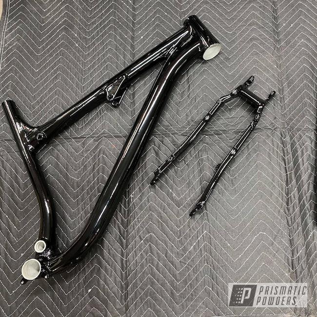 Powder Coating: Bicycle Frame and Fork,Bicycles,Bike Frame,Ink Black PSS-0106,Bicycle Frame
