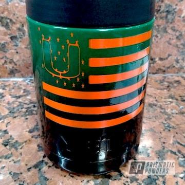 Ink Black, Redwood Green And Striker Orange