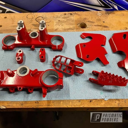 Powder Coating: Motorcycle Parts,Very Red PSS-4971,Dirt Bike