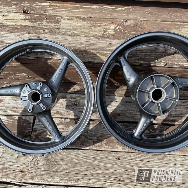 Powder Coating: Honda,cbr 600,Kingsport Grey PMB-5027,Motorcycle Wheels