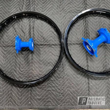 Powder Coating: Ink Black PSS-0106,Playboy Blue PSS-1715,Motorcycle Wheels