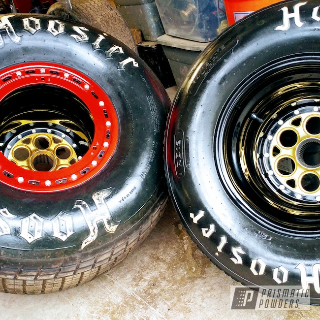 Powder Coating: Wheels,3 Piece Rims,Rims,Ink Black PSS-0106,Race Car,Satin Poly Gold PMB-6487,Wizard Red PPS-4690