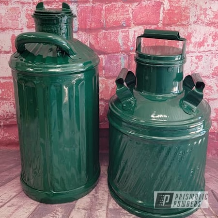 Powder Coating: RAL 6005 Moss Green,Vintage Cans,Vintage,Oil Cans